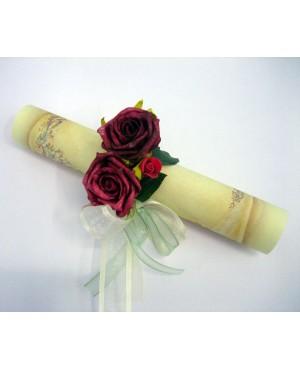 Argolla flor roja