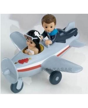Figura Novios en avión