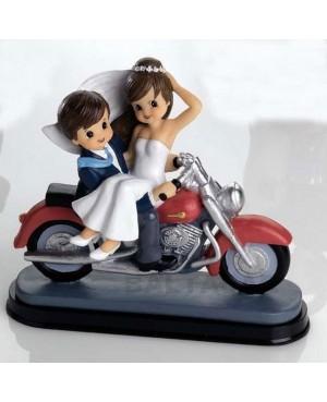 Figura Novios en Moto Harley
