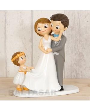 Figura boda pastel con hija mayor