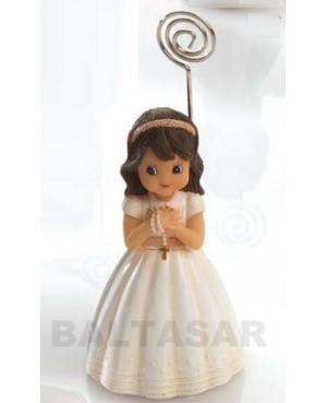 Niña comunión vestido marfil con rosario