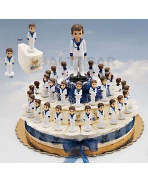 Pastel Comunion 23 niños con peladillas