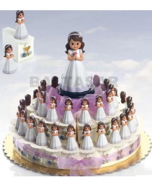 Pastel Comunion 23 niñas con peladillas