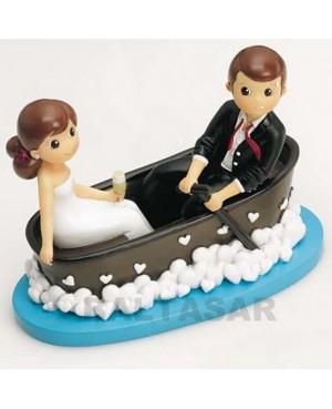 Figura Novios para pastel novios en barca