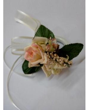 Argolla flor blanca redonda
