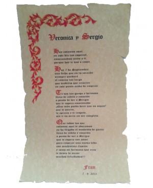 Pergamino Orla Roja