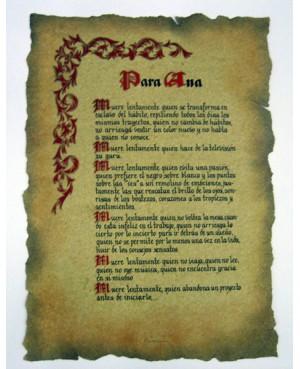 pergamino hecho a mano gótico