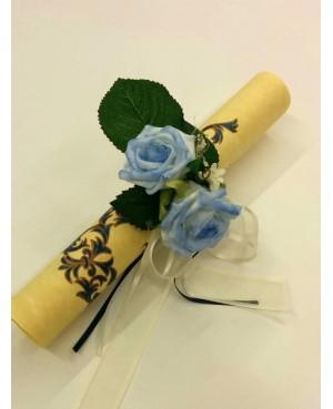 Argolla flor Azul