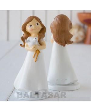 Figura pastel niña primera comunión