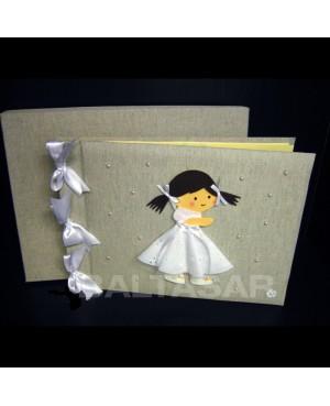 libro de firmas y fotos comunión niña