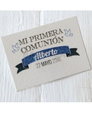 TARJETITA PRIMERA COMUNIÓN
