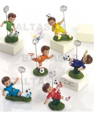 Figura futbolista comunión portanotas