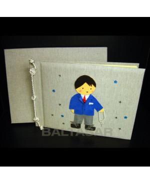 libro de firmas y fotos comunión niño
