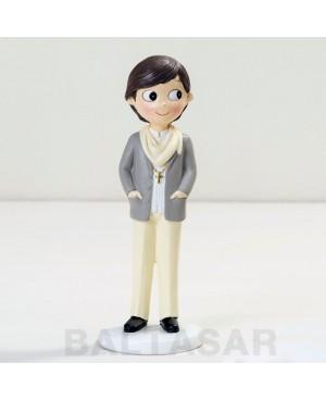 Figura niño Comunión con foulard 16,5cm