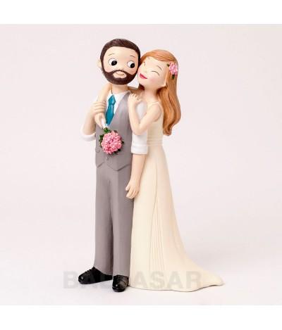 Figura pastel Pop & Fun novio chaleco y barba, 21cm