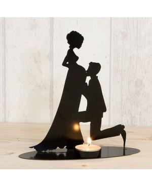Figura/portavela pastel, novia embarazada