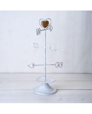 Joyero de metal flechas corazón con caja,31cm