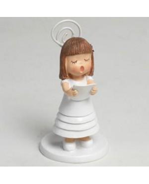 niña recordatorio primera comunión vestido blanco