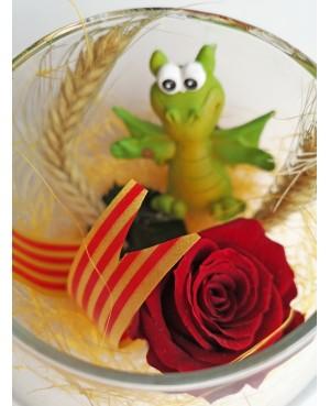 Bola de Cristal - Dragón y Rosa