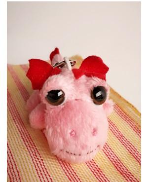 Dragoncito rosa llavero