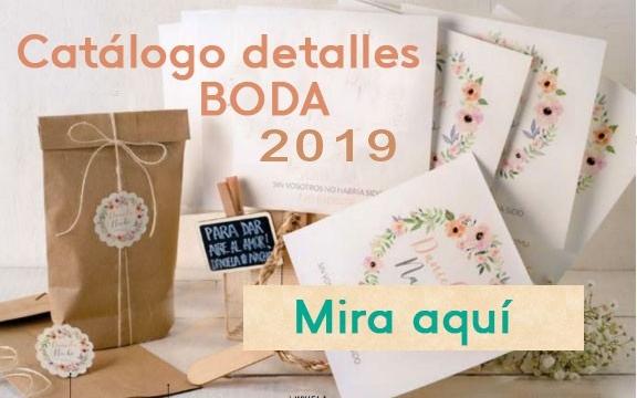 Catálogo detalles boda 2019
