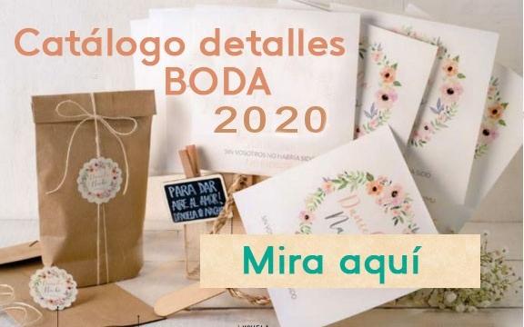 Catálogo detalles boda 2020